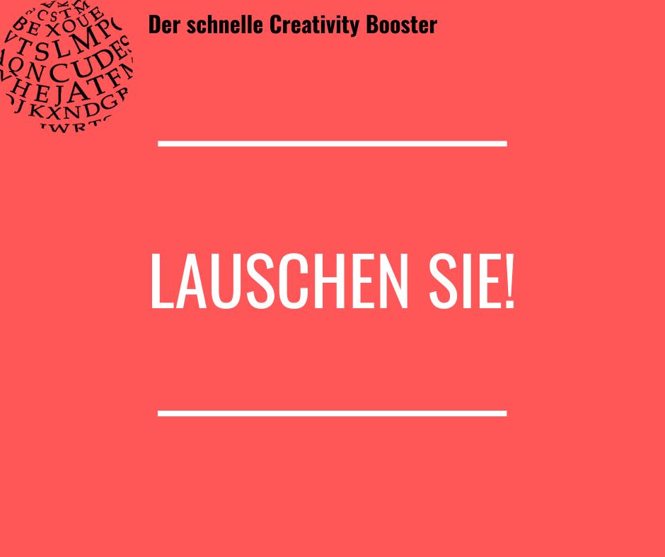 Der schnelle Creativity Booster #2